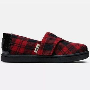 New Buffalo Plaid Toddler Girls Toms Size 10